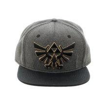 Load image into Gallery viewer, Bioworld Licensed The Legend Of Zelda Grey/Black Snapback Hat