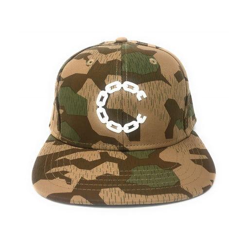 Crooks & Castles 3D Rubber Beveled Chain C Camouflage Snapback Hat