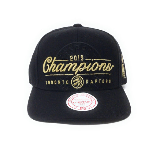 Mitchell and Ness Toronto Raptors - 2019 Champions Script - Black/Gold Snapback Hat