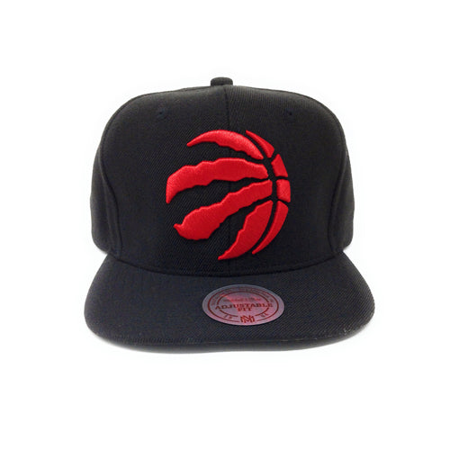 Mitchell and Ness Toronto Raptors Partial Claw Logo Red/Black Snapback Hat