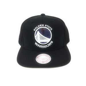 Mitchell and Ness Golden State Warriors Hologram Logo White/Black Snapback Hat