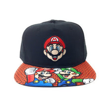 Load image into Gallery viewer, Bioworld Licensed Super Mario 3D Lenticular Black Youth Black Snapback Hat
