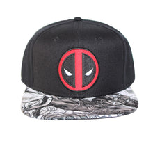 Load image into Gallery viewer, Bioworld Licensed Deadpool - Icon with Sublimated Brim Snapback Hat