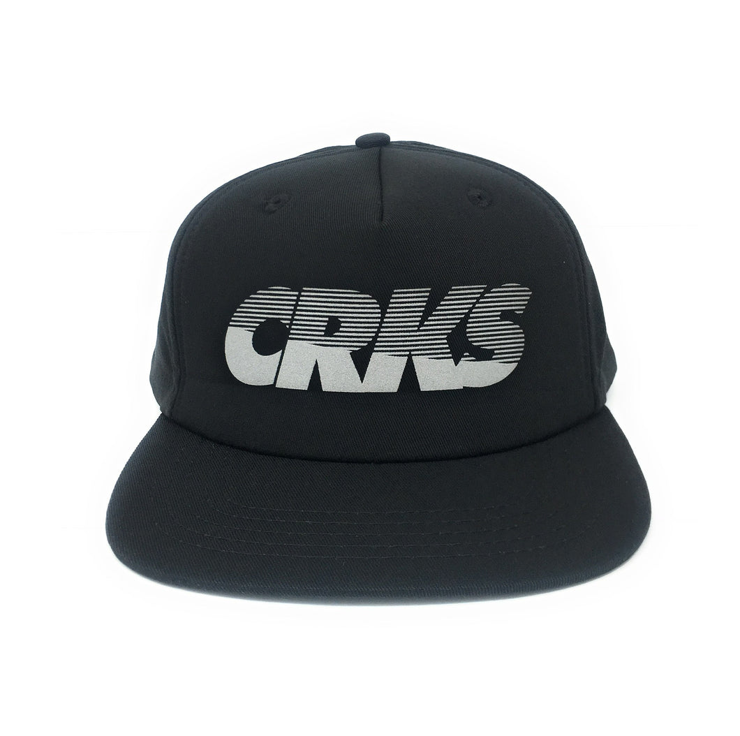 Crooks & Castles CRKS Black Unstructured Snapback Hat