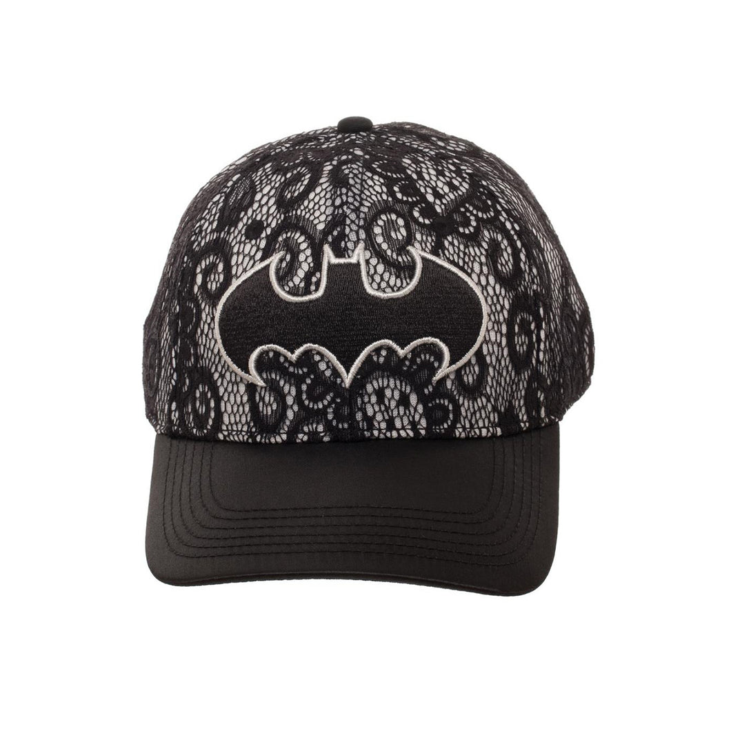 Bioworld Licensed Batman Metallic Embroidery Lace Black/Grey Snapback Hat