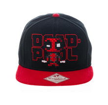 Load image into Gallery viewer, Bioworld Licensed Deadpool - Marvel Comics - Pixel - Black/Red Snapback Hat