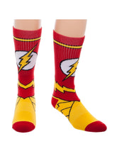 Load image into Gallery viewer, Bioworld Licensed The Flash - DC Comics - Suit Up - Red/Yellow Crew Socks