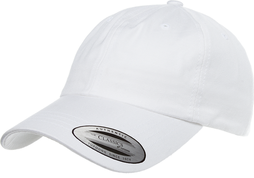 Flexfit 6245CM White Low Profile Cotton Twill Dad Hat