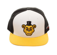 Load image into Gallery viewer, Bioworld Licensed Five Nights At Freddy's - Golden Freddy Tri-Colour Black/Yellow Snapback Hat