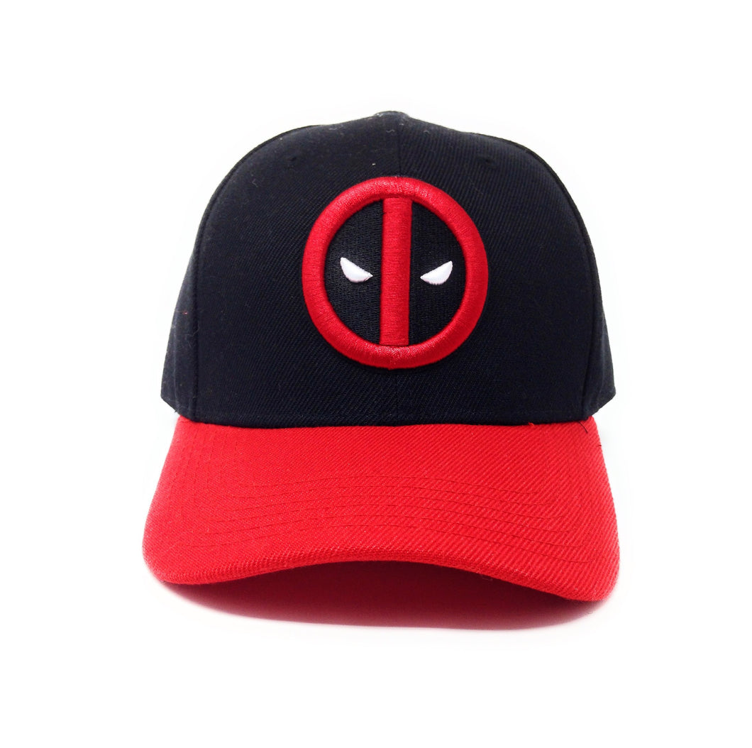 Deadpool Logo - Flat Embroidery - Red/Black Dad Cap Snapback Hat