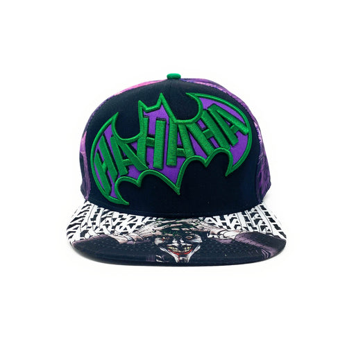 Joker - HaHaHa Sublimated Brim - Purple/Black - Snapback Cap