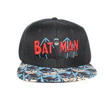 Load image into Gallery viewer, Bioworld Licensed Batman Retro Logo Sublimated Brim Snapback Hat