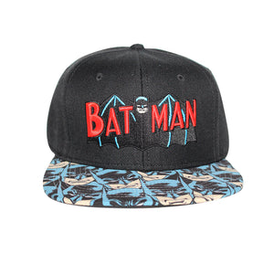 Bioworld Licensed Batman Retro Logo Sublimated Brim Snapback Hat