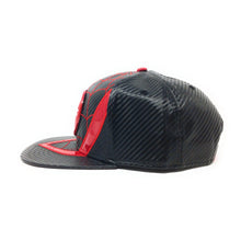 Load image into Gallery viewer, Bioworld Licensed Spider-man Miles Morales Carbon Fiber Suit Up Red/Black Snapback Hat