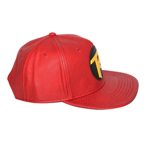 Bioworld Licensed DC Comics Robin - Metal Mold, Woven Label PU Leather Snapback Hat
