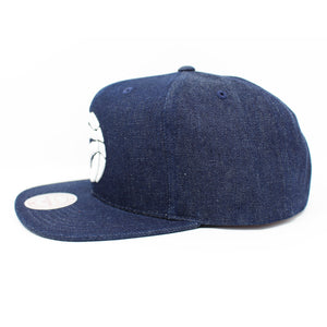 Mitchell And Ness Toronto Raptors Polka Dot Denim Blue Snapback Hat