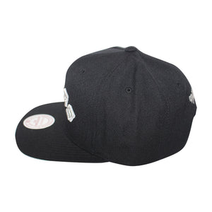 Mitchell & Ness Black/White San Antonio Spurs Snapback Cap