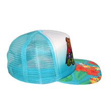 "Load image into Gallery viewer, Bioworld Licensed Teenage Mutant Ninja Turtles ""RAD"" Hibiscus Bill Trucker Snapback Hat"
