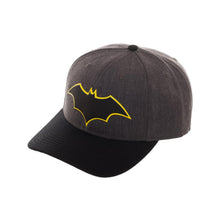 Load image into Gallery viewer, Bioworld Licensed Batman Rebirth Embroidery Black/Grey Snapback Hat