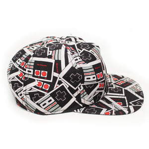 Bioworld Licensed Nintendo - Controller All Over Print Snapback Hat