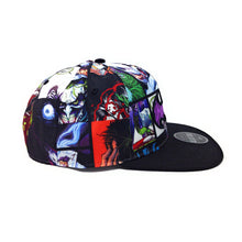 Load image into Gallery viewer, Bioworld Licensed Batman and Joker Black/Purple Graphic Crown Snapback Hat