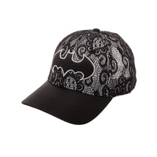 Load image into Gallery viewer, Bioworld Licensed Batman Metallic Embroidery Lace Black/Grey Snapback Hat