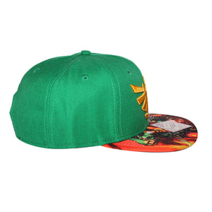 Bioworld Licensed The Legend Of Zelda - Link Sublimated Brim Snapback Hat
