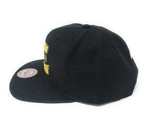 Mitchell and Ness Toronto Huskies Black/Gold Full Logo Snapback Hat
