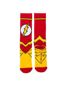 Bioworld Licensed The Flash - DC Comics - Suit Up - Red/Yellow Crew Socks