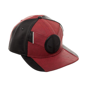 Bioworld Licensed Deadpool Suit Up PU Leather Ballistic Red/Black Snapback Hat