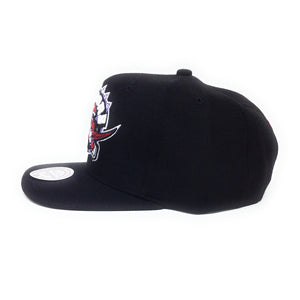 Mitchell and Ness Toronto Raptors Retro Logo Red/Purple/Black Snapback Hat