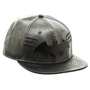 Bioworld Black Licensed Batman PU Leather Suit Up Snapback Hat