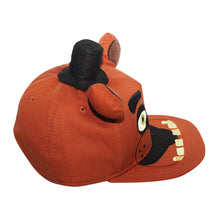 "Load image into Gallery viewer, Bioworld Brown Licensed Five Nights At Freddy's ""Freddy"" Big Face, Hat And Ears Snapback Hat"
