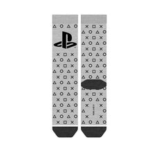 Load image into Gallery viewer, Bioworld Licensed Sony Playstation Logo And Waterprint Button Grey Socks