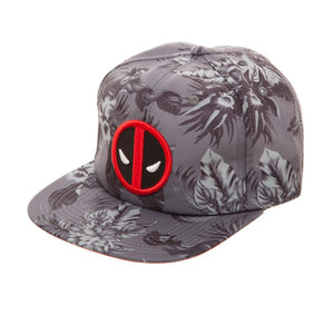 Bioworld Licensed Deadpool - Marvel Comics - Floral AOP Grey Buckle Hat