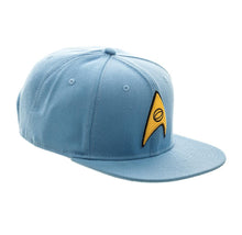 Load image into Gallery viewer, Bioworld Licensed Star Trek - Core Line Blue Snapback Hat