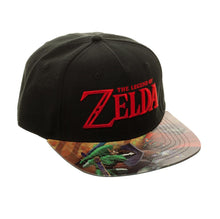 Load image into Gallery viewer, Bioworld Licensed The Legend Of Zelda Logo - Link - Printed PVC Brim Black Velcro Hat