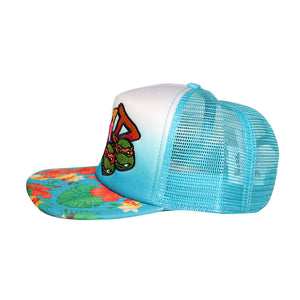"Bioworld Licensed Teenage Mutant Ninja Turtles ""RAD"" Hibiscus Bill Trucker Snapback Hat"