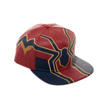 Load image into Gallery viewer, Bioworld Licensed Spider-Man Iron Spider Suit Up - PU Leather Blue/Red Snapback Hat