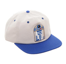 Load image into Gallery viewer, Bioworld Licensed Star Wars - R2D2 Oxford Slouch Grey/Blue Snapback Hat