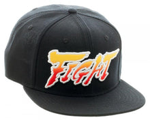 "Load image into Gallery viewer, Bioworld Licensed Street Fighter ""Fight"" - Ryu Sublimated Under Brim Snapback Hat"