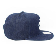 Load image into Gallery viewer, Mitchell And Ness Toronto Raptors Polka Dot Denim Blue Snapback Hat