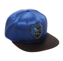 Load image into Gallery viewer, Bioworld Licensed Harry Potter - Ravenclaw - Satin Metallic Embroidery Blue/Black Snapback Hat