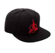Load image into Gallery viewer, Bioworld Licensed Star Trek - Klingon - Acrylic Black Snapback Hat