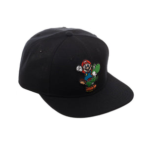 Bioworld Licensed Super Mario Core Logo Youth Black Snapback Hat