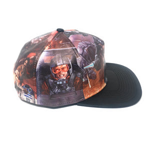 Bioworld Licensed Star Wars - Printed Scene PU Brim Snapback Hat