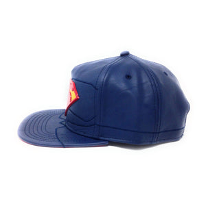 Bioworld Superman Rebirth Suit Up PU Leather With Metal Logo Blue Snapback Hat