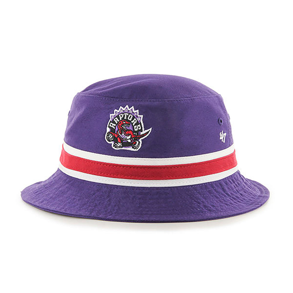 47 Brand Toronto Raptors  Purple Striped Bucket