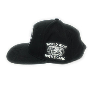 Hustle Gang - World Wide - Black Snapback Hat