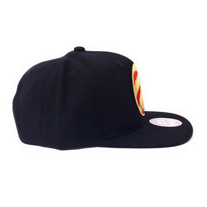 Mitchell and Ness Toronto Raptors Partial Claw Logo Red/Gold/Black Snapback Hat